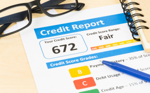 Picture of a credit score.